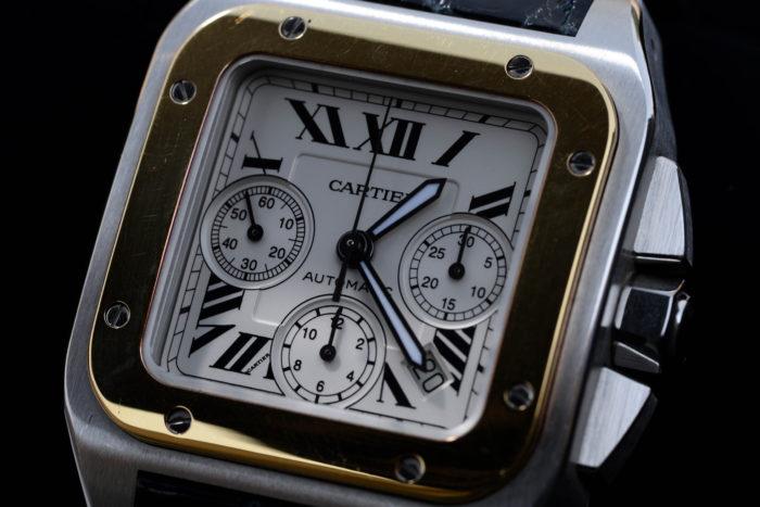ogakijinさんの腕時計はカルティエのサントス100