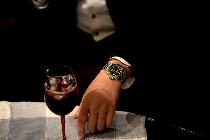 ワインとグリーンサブマリーナと西崎さん
