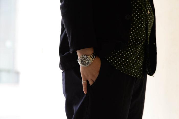 ロレックス デイトナ 116520を着用するkamezoさん6
