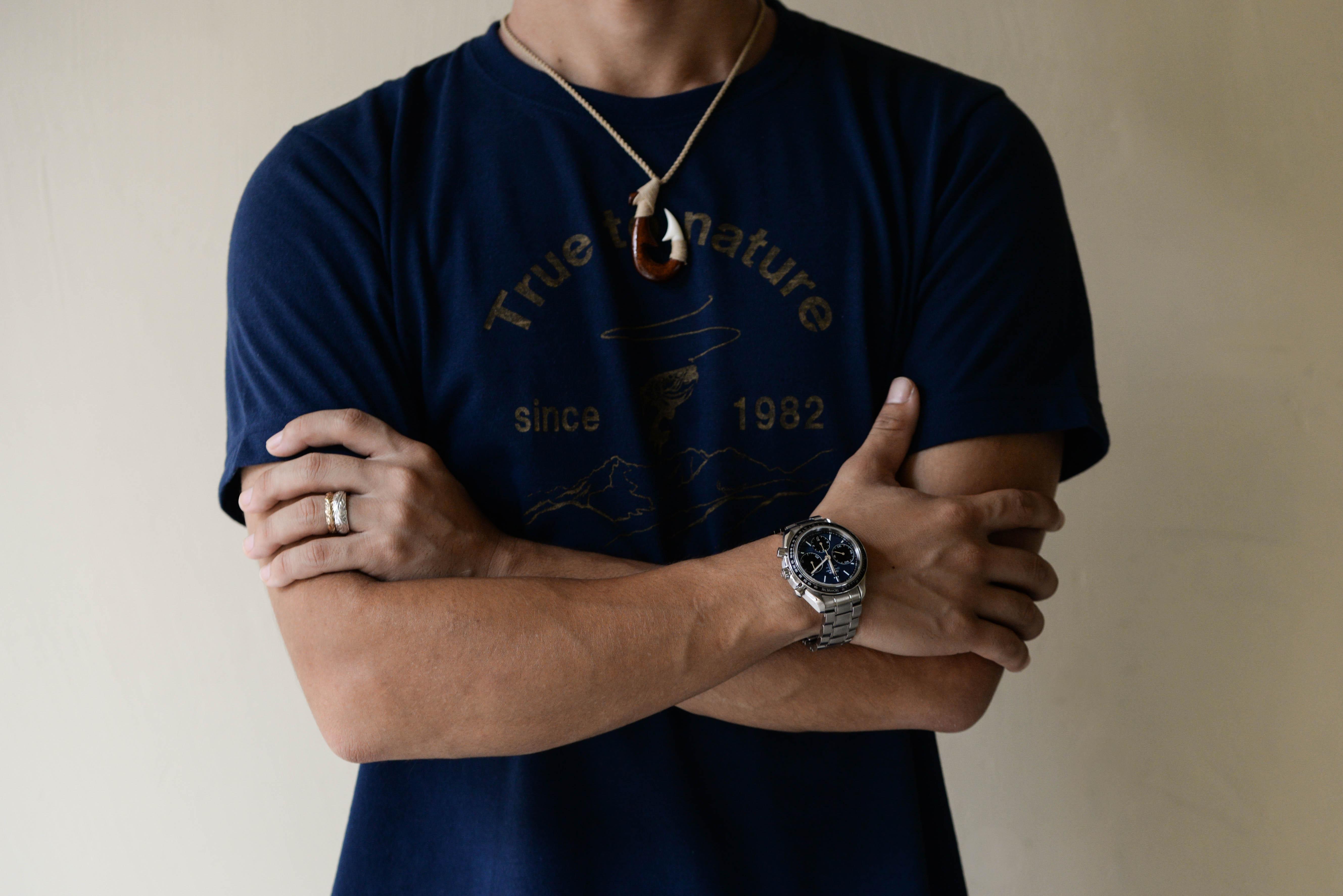 外城さんの腕時計はスピードマスター コーアクシャル