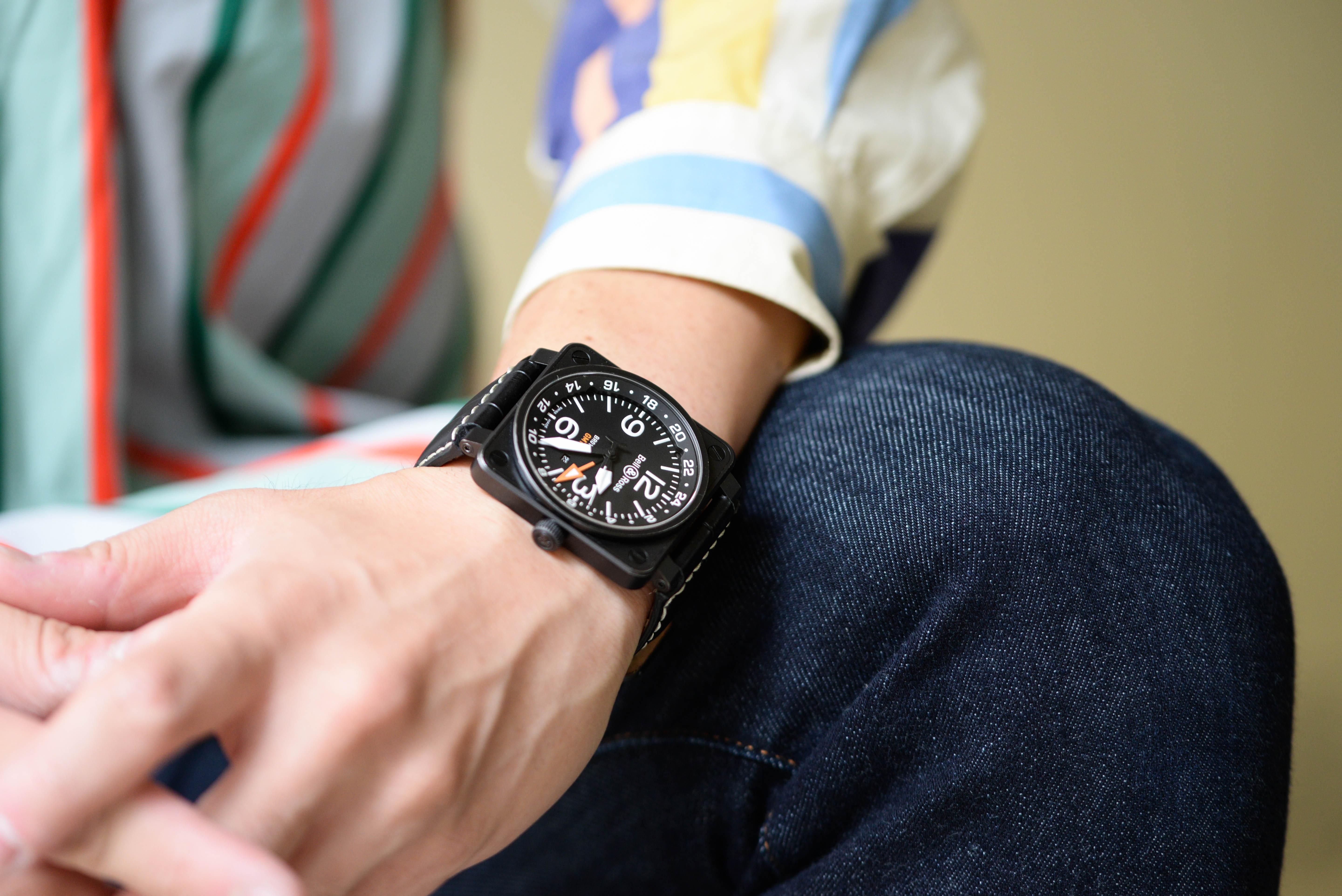 ベル&ロス Ref.BR01-93 GMT-Rを着用する西岡さん画像7