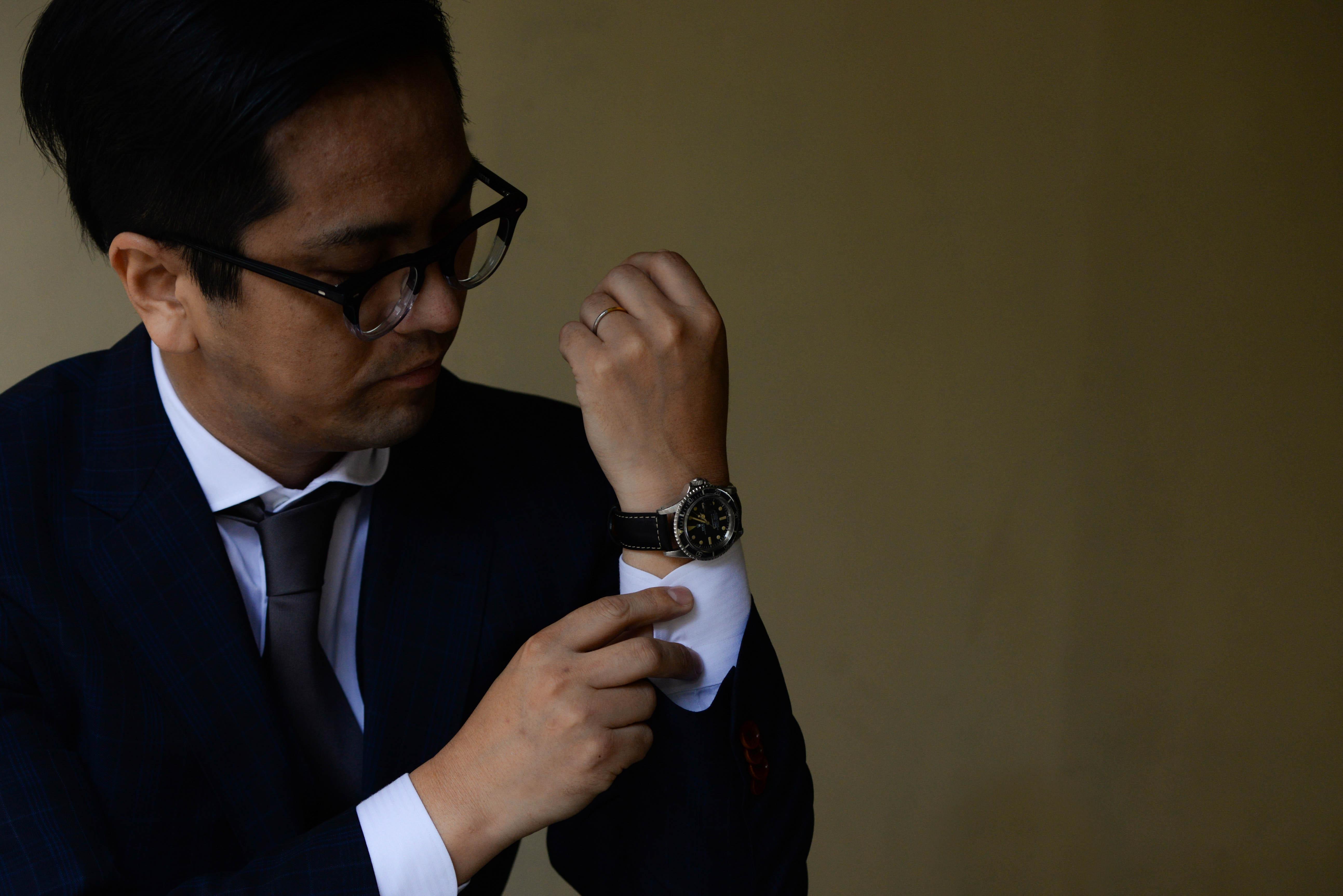 クライアントに腕時計好きな方がいた