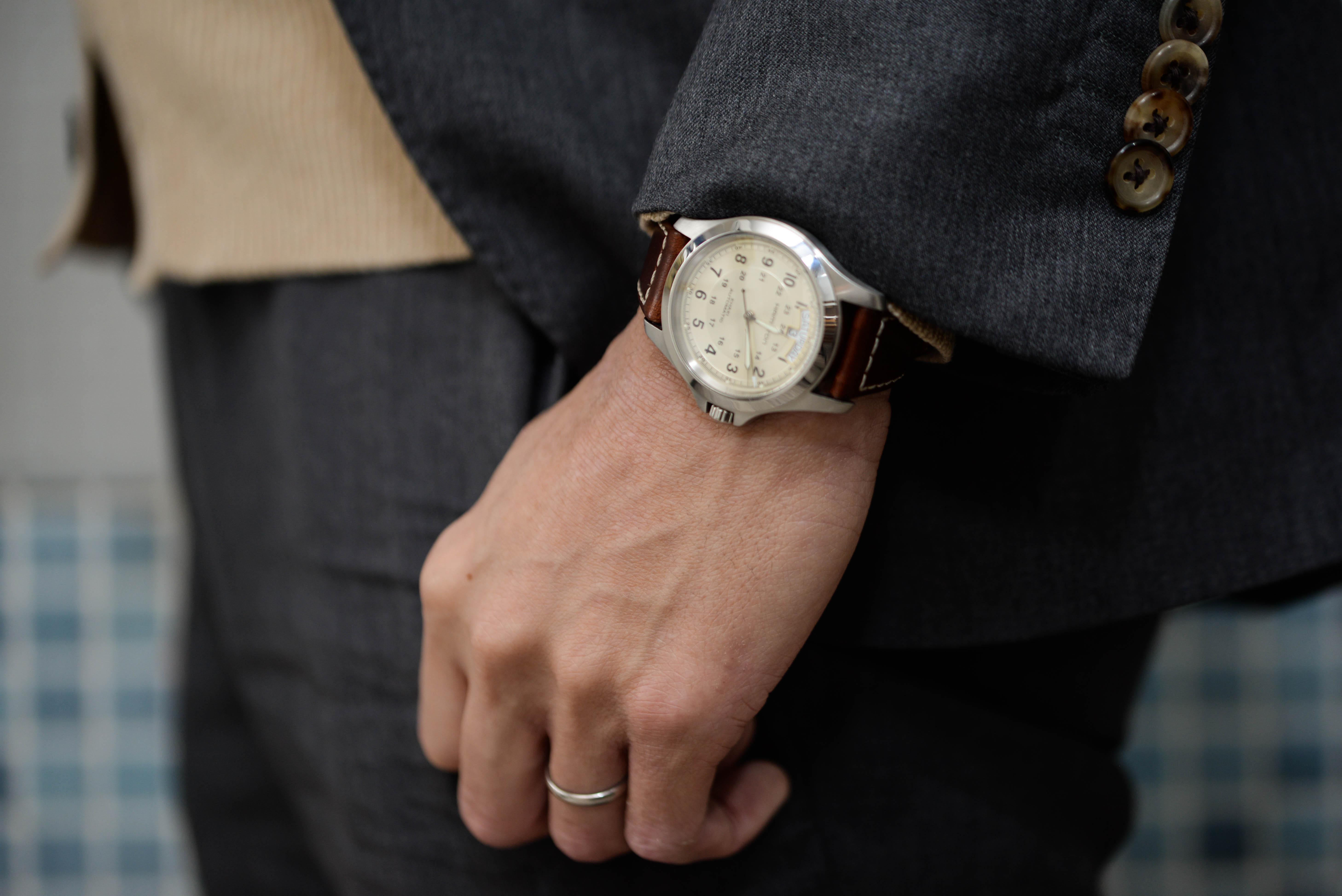 友人などに腕時計に興味がある人はいなかった